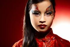 Aziatisch Plastic Doll Stock Afbeelding