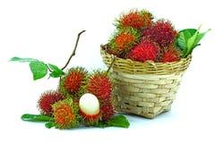 Aziatisch rambutan fruit Royalty-vrije Stock Foto's