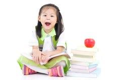 Aziatisch schoolmeisje stock afbeelding