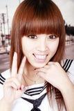 Aziatisch schoolmeisjeportret Royalty-vrije Stock Foto