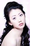 Aziatisch schoonheids hoofdschot Royalty-vrije Stock Foto