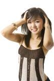 Aziatisch schoonheidsportret Royalty-vrije Stock Foto's