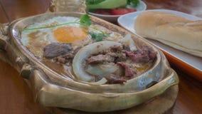 Aziatisch stijlontbijt stock foto's