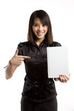 Aziatisch student en boek Stock Foto