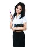 Aziatisch studentenmeisje Royalty-vrije Stock Afbeeldingen