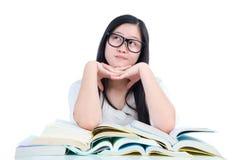 Aziatisch studentenmeisje stock afbeelding