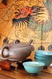 Aziatisch theestel. Royalty-vrije Stock Foto