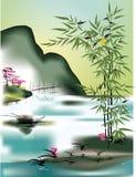 Aziatisch thema Stock Afbeelding