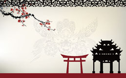Aziatisch thema stock illustratie