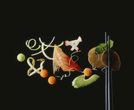 Aziatisch voedselstilleven Stock Fotografie