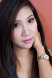 Aziatisch vrouwenportret Stock Fotografie