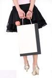 Aziatisch winkelend meisje Royalty-vrije Stock Foto