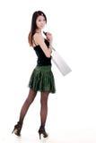 Aziatisch winkelend meisje stock fotografie
