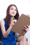 Aziatische ambtenarenvrouwen Stock Afbeeldingen