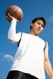 Aziatische basketbalspeler Stock Afbeeldingen