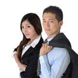 Aziatische bedrijfsman en vrouw Stock Foto