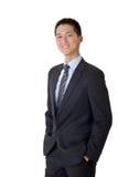 Aziatische bedrijfsmens stock foto's