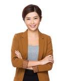 Aziatische bedrijfsvrouw Stock Afbeeldingen