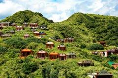 Aziatische Begraafplaats op een heuvel Royalty-vrije Stock Fotografie