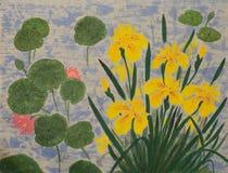 Aziatische bloemen in de lente Stock Foto
