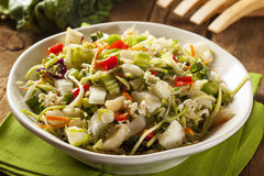Aziatische Bok Choy en Ramen-Salade stock afbeelding