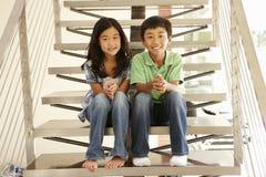 Aziatische broer en zuster Stock Afbeeldingen