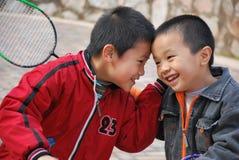 Aziatische broers royalty-vrije stock fotografie