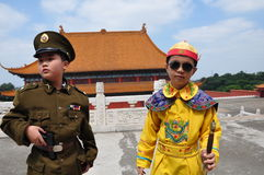 Aziatische broers royalty-vrije stock afbeelding