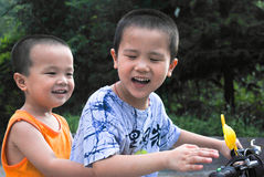 Aziatische broers stock afbeelding