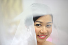 Aziatische bruid Royalty-vrije Stock Afbeelding