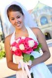 Aziatische Bruid bij Huwelijk Royalty-vrije Stock Foto's