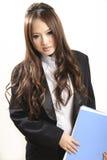 Aziatische bureaudame Stock Afbeeldingen