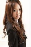 Aziatische bureaudame Stock Foto's