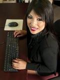 Aziatische bureausecretaresse Royalty-vrije Stock Foto
