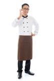 Aziatische chef-kok Stock Foto