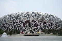 Aziatische Chinees, het Nationale Stadion van Peking, het nest van de vogel, Stock Foto