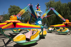 Aziatische Chinees, Peking, Chaoyang-Park, het moedige pretpark, Stock Foto's