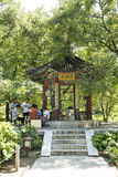 Aziatische Chinees, Peking, Ditan-Park, gezondheidstuin, Paviljoen Stock Fotografie