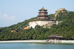 Aziatische Chinees, Peking, het de Zomerpaleis, Toren van Boeddhistische Wierook Stock Foto's