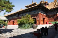 Aziatische Chinees, Peking, historische gebouwen, Lama Temple Royalty-vrije Stock Afbeelding