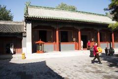 Aziatische Chinees, Peking, historische gebouwen, Lama Temple Stock Afbeelding
