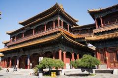 Aziatische Chinees, Peking, historische gebouwen, Lama Temple Royalty-vrije Stock Fotografie