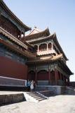 Aziatische Chinees, Peking, historische gebouwen, Lama Temple Stock Foto's