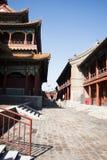 Aziatische Chinees, Peking, historische gebouwen, Lama Temple Royalty-vrije Stock Foto