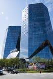 Aziatische Chinees, Peking, moderne architectuur, de bouw Stock Fotografie