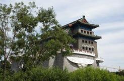 Aziatische Chinees, Peking, oude architectuur, Zhengyang Jianlou Stock Foto's