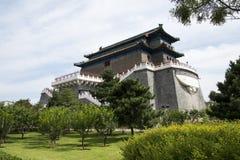 Aziatische Chinees, Peking, oude architectuur, Zhengyang Jianlou Royalty-vrije Stock Foto