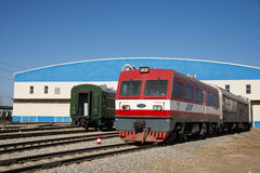 Aziatische Chinees, Peking, Spoorwegmuseum, plaats Stock Foto