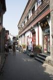 Aziatische Chinees, Peking, Yandaixiejie, een commerciële straat in oud Royalty-vrije Stock Afbeelding