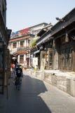 Aziatische Chinees, Peking, Yandaixiejie, een commerciële straat in oud Stock Foto's